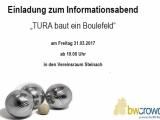 """Einladung zum Informationsabend """"TURA baut ein Boulefeld"""""""